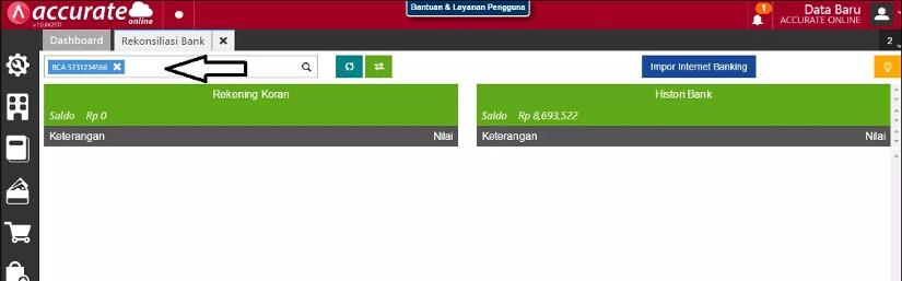 Rekonsiliasi Bank di Accurate Online - Step 2