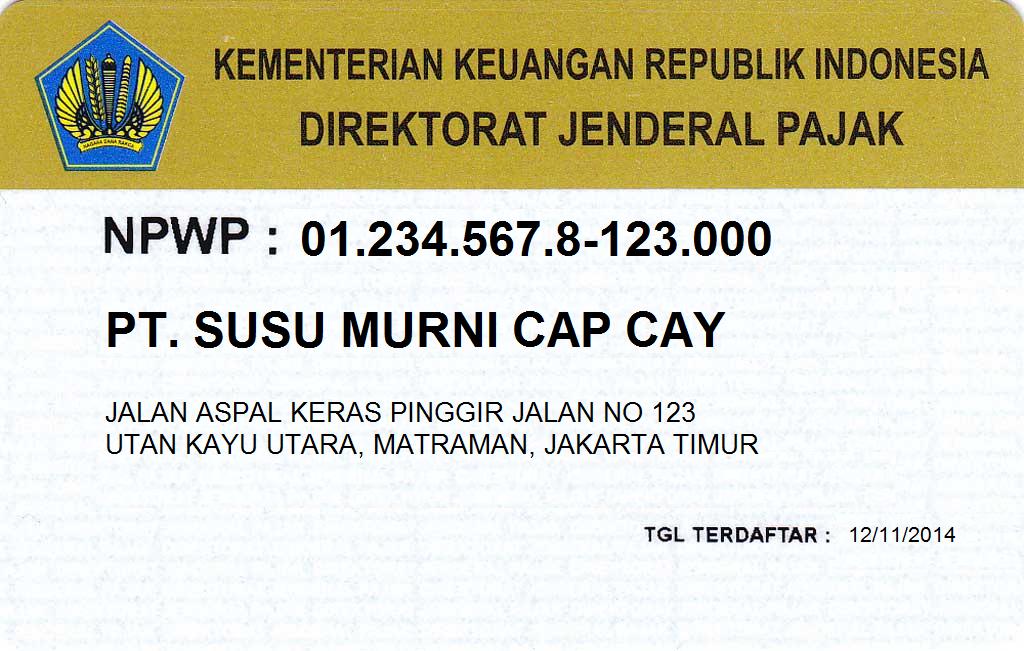 NPWP badan usaha