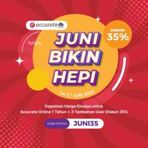 Accurate Online Promo Juni Bikin Hepi 14-17-Juni 2021