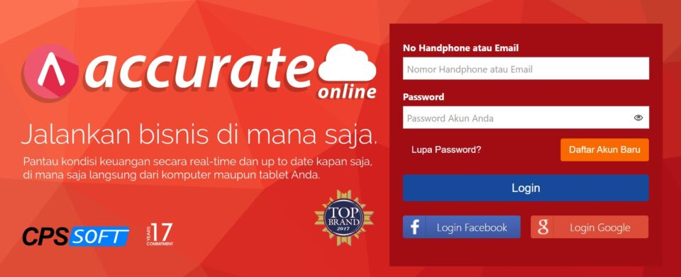 Daftar Account Accurate Online